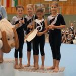 3. Platz: Black Birds (Anna, Annika, Kiara, Nina) 396,75 Punkte